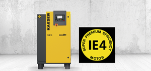 The new SM series rotary screw compressors featuring the the new SIGMA 06 compressor airend.